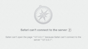 safari - web server unreacheable